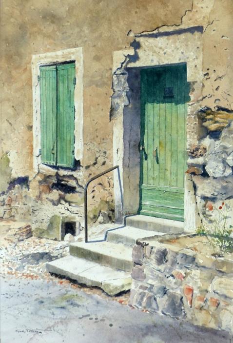 'Heat of the Day, Villeneuve - les - Avignon' 47 x 32 cm