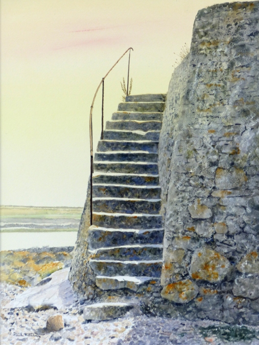 'Stairway to Heaven, Porth Cwyfan, Anglesey' 41 x 31 cm