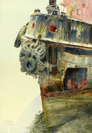 'Thames Tug IONIA, Bideford' 54 x 38 cm